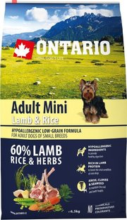 Ontario Adult Mini Lamb/Rice фото